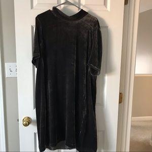 Eileen Fisher Gray Velvet Dress